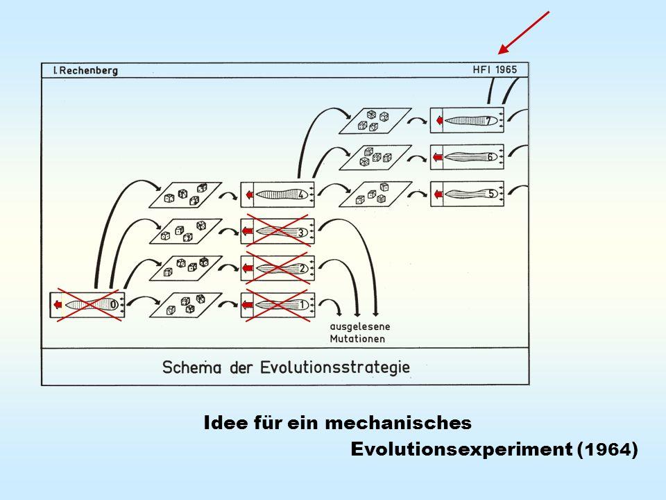 Idee für ein mechanisches Evolutionsexperiment ( 1964 )