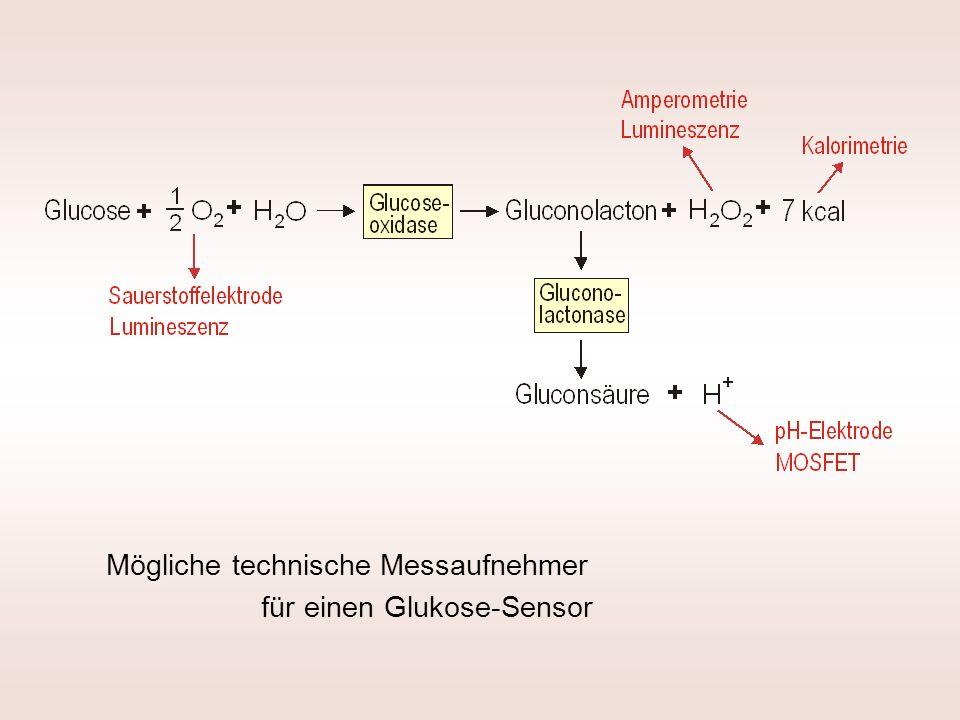 Mögliche technische Messaufnehmer für einen Glukose-Sensor