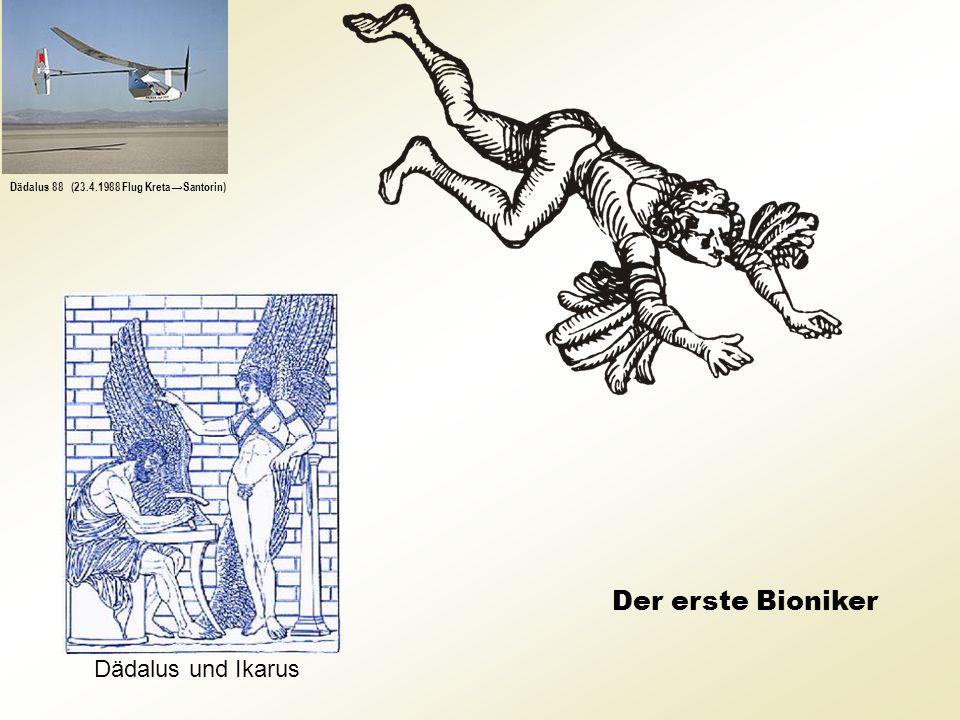 Der erste Bioniker Dädalus und Ikarus Dädalus 88 (23.4.1988 Flug KretaSantorin)