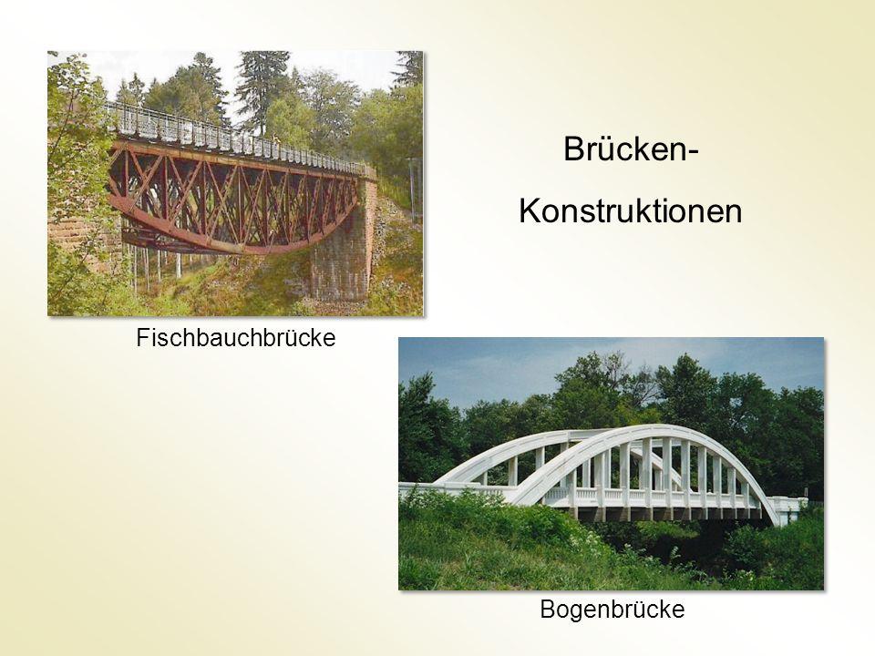 Bogenbrücke Fischbauchbrücke Brücken- Konstruktionen