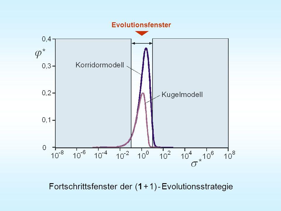 Fortschrittsfenster der (1 + 1) - Evolutionsstrategie Evolutionsfenster
