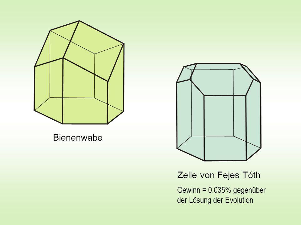 Zelle von Fejes Tóth Bienenwabe Gewinn = 0,035% gegenüber der Lösung der Evolution