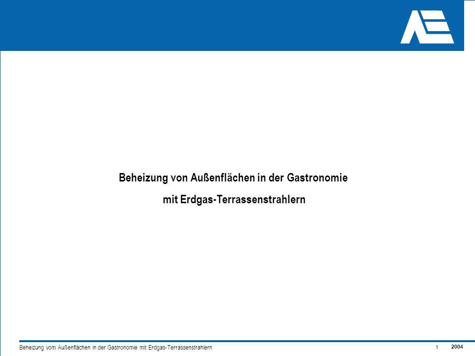 2004 2 Beheizung vom Außenflächen in der Gastronomie mit Erdgas-Terrassenstrahlern Außenflächen länger nutzen – Vorteile für alle Kundenwunsch - Veränderung des Freizeitverhaltens in Deutschland.