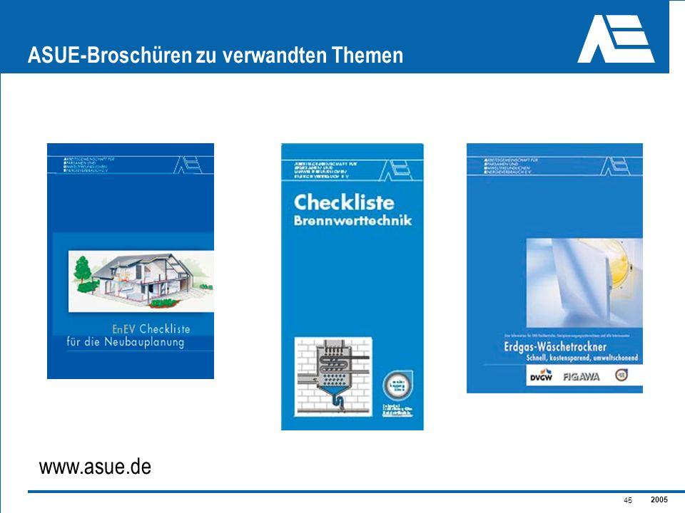 2005 45 ASUE-Broschüren zu verwandten Themen www.asue.de