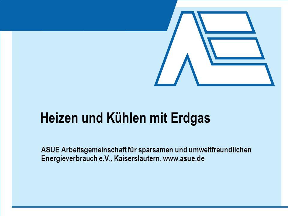 Heizen und Kühlen mit Erdgas ASUE Arbeitsgemeinschaft für sparsamen und umweltfreundlichen Energieverbrauch e.V., Kaiserslautern, www.asue.de