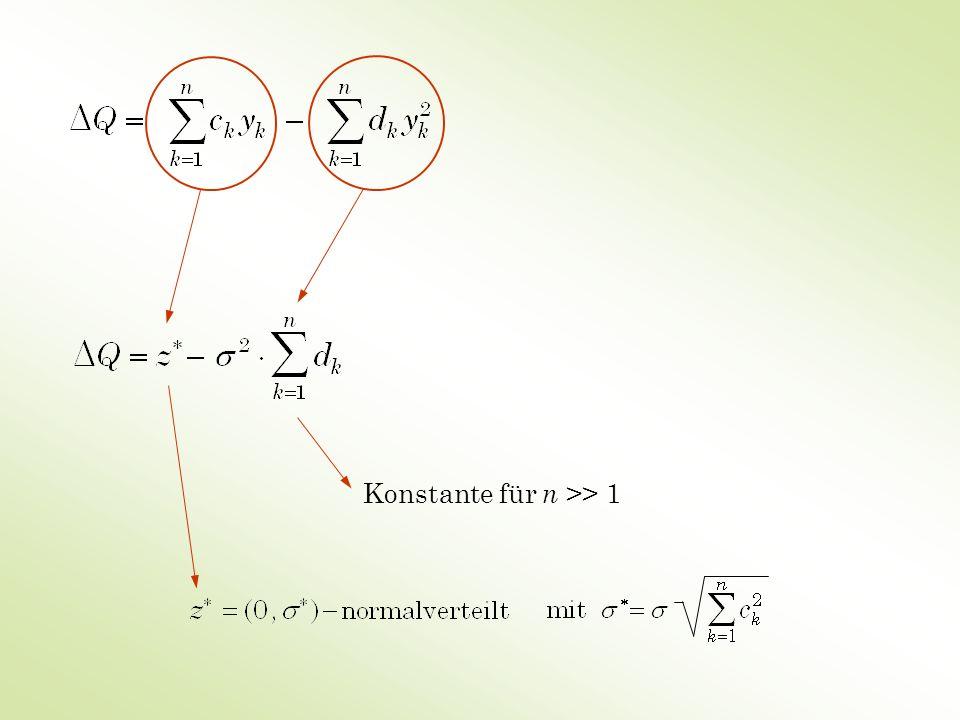 Konstante für n >> 1