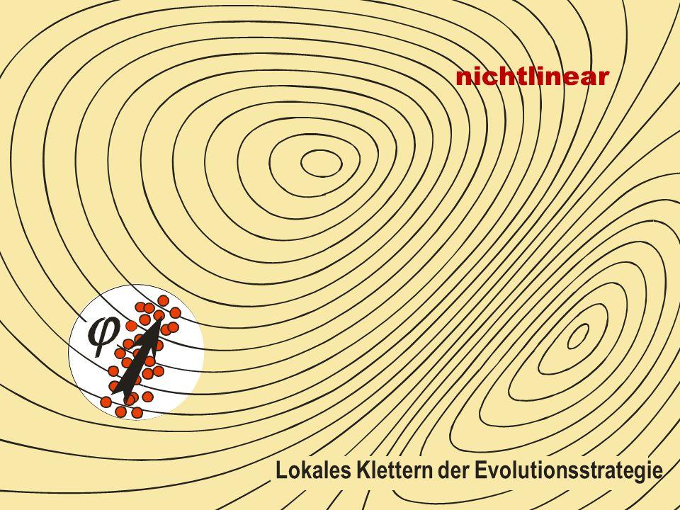Lokales Klettern der Evolutionsstrategie nichtlinear