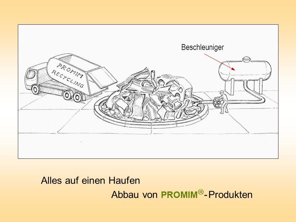 Alles auf einen Haufen Abbau von PROMIM - Produkten Beschleuniger