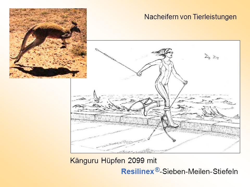 Känguru Hüpfen 2099 mit Resilinex ® -Sieben-Meilen-Stiefeln Nacheifern von Tierleistungen