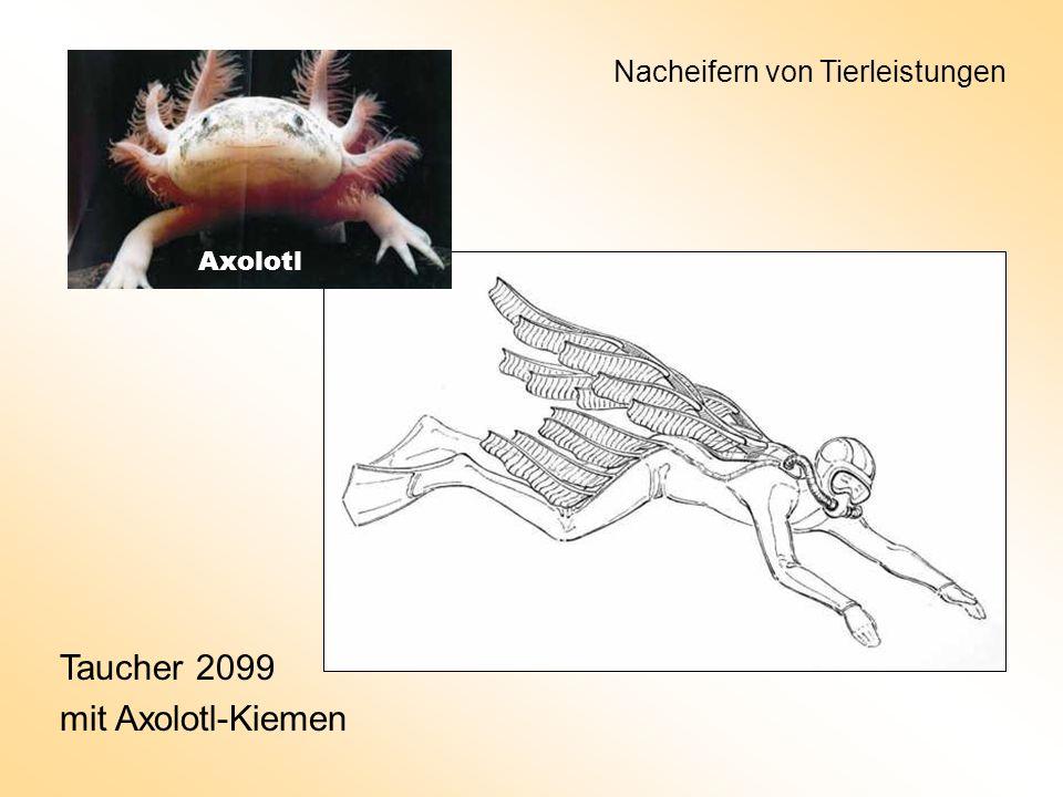 Taucher 2099 mit Axolotl-Kiemen Axolotl Nacheifern von Tierleistungen