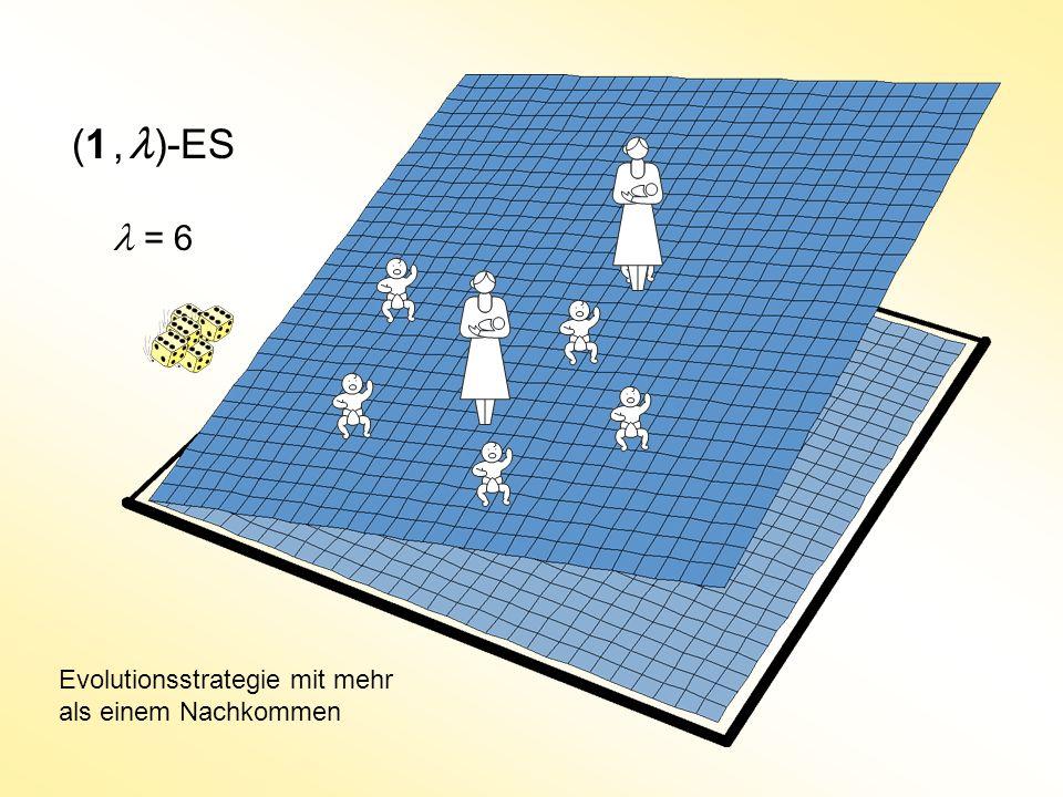 (1, )-ES Evolutionsstrategie mit mehr als einem Nachkommen = 6