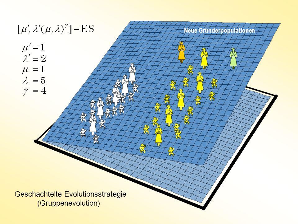 Neue Gründerpopulationen Geschachtelte Evolutionsstrategie (Gruppenevolution)