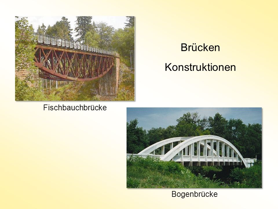 Bogenbrücke Fischbauchbrücke Brücken Konstruktionen