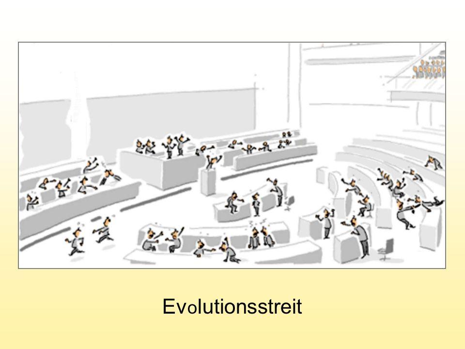 Selbstreproduktion mit Fehlern Exponentielle Vermehrung Kampf ums Dasein Evolution á la D ARWIN U.