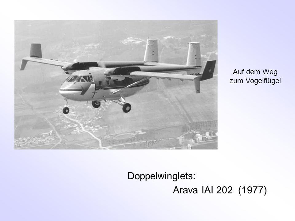 Doppelwinglets: Arava IAI 202 (1977) Auf dem Weg zum Vogelflügel