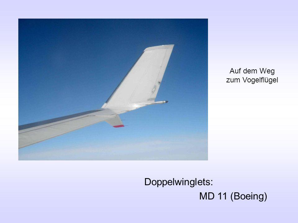 Doppelwinglets: MD 11 (Boeing) Auf dem Weg zum Vogelflügel