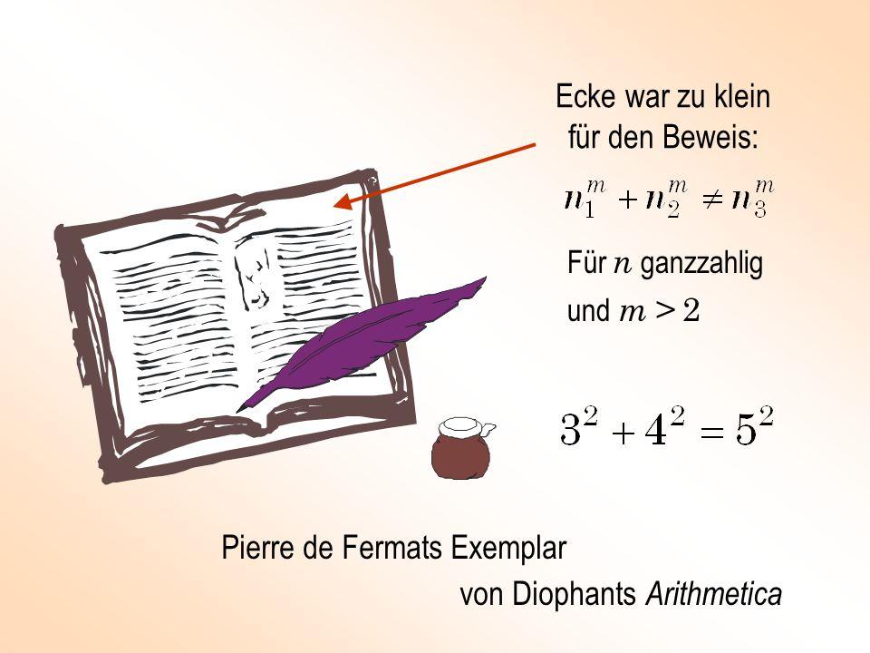 Ecke war zu klein für den Beweis: Pierre de Fermats Exemplar von Diophants Arithmetica Für n ganzzahlig und m > 2