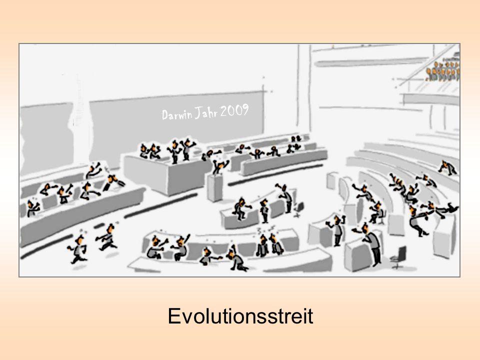 Evolutionsstreit Darwin Jahr 2009