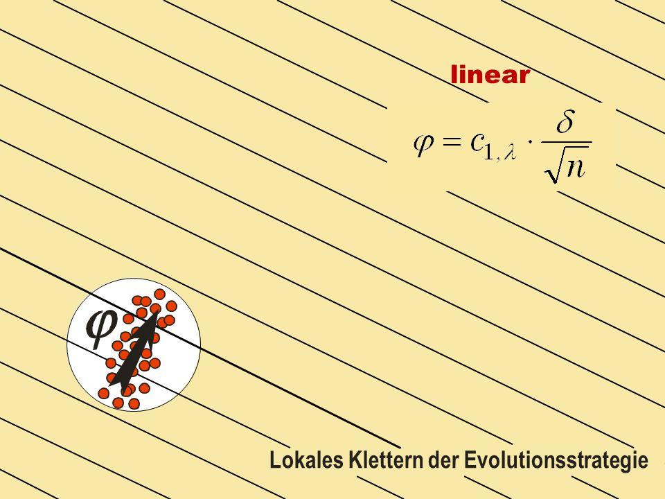 Lokales Klettern der Evolutionsstrategie linear