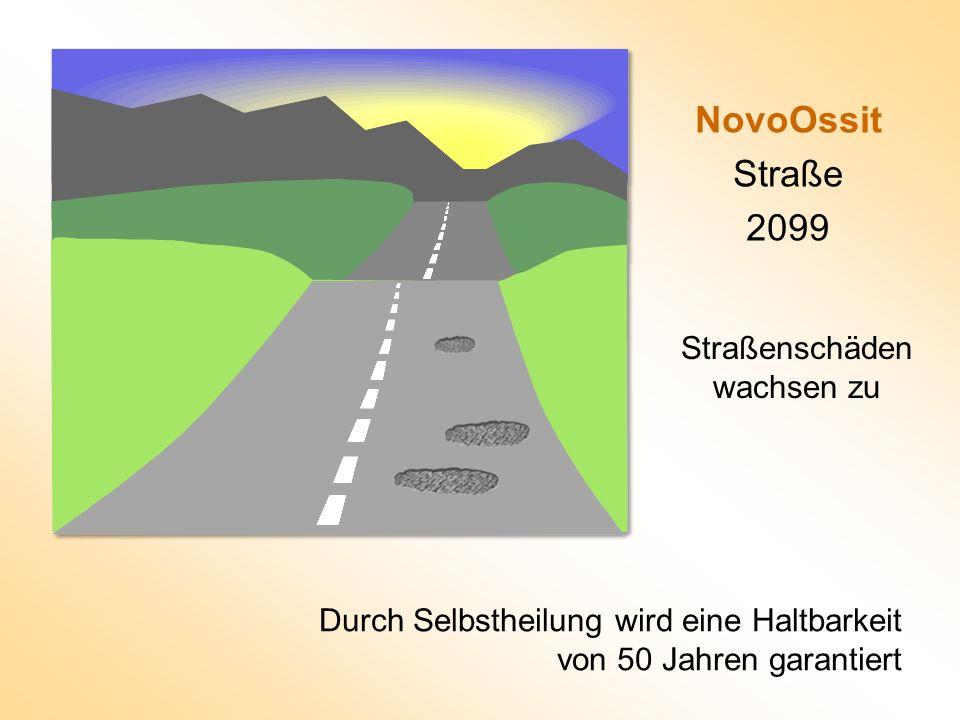 NovoOssit Straße 2099 Durch Selbstheilung wird eine Haltbarkeit von 50 Jahren garantiert Straßenschäden wachsen zu
