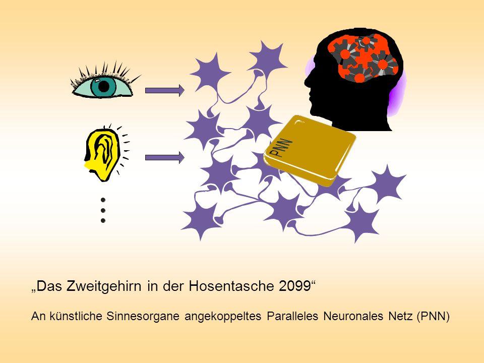 An künstliche Sinnesorgane angekoppeltes Paralleles Neuronales Netz (PNN) Das Zweitgehirn in der Hosentasche 2099