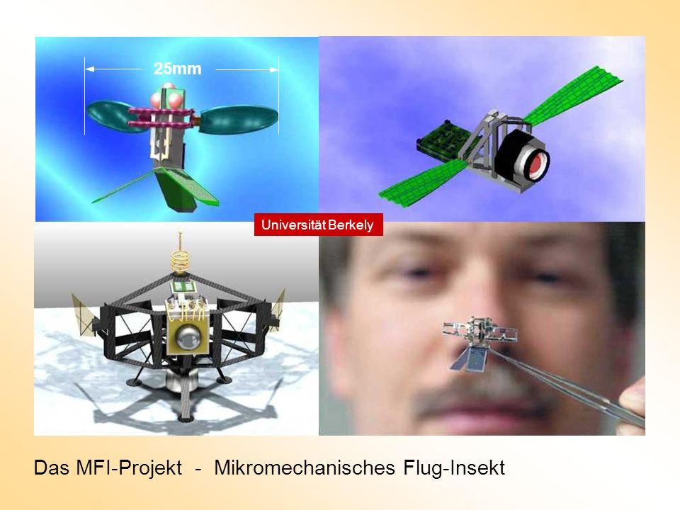 25mm Das MFI-Projekt - Mikromechanisches Flug-Insekt Universität Berkely
