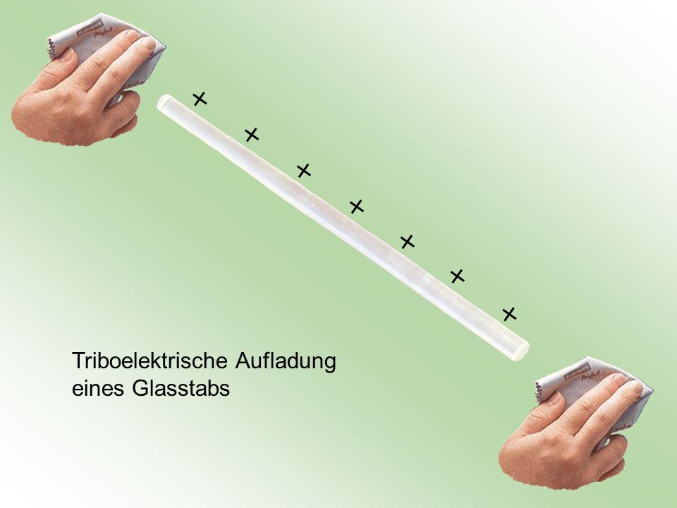 Triboelektrische Aufladung eines Glasstabs