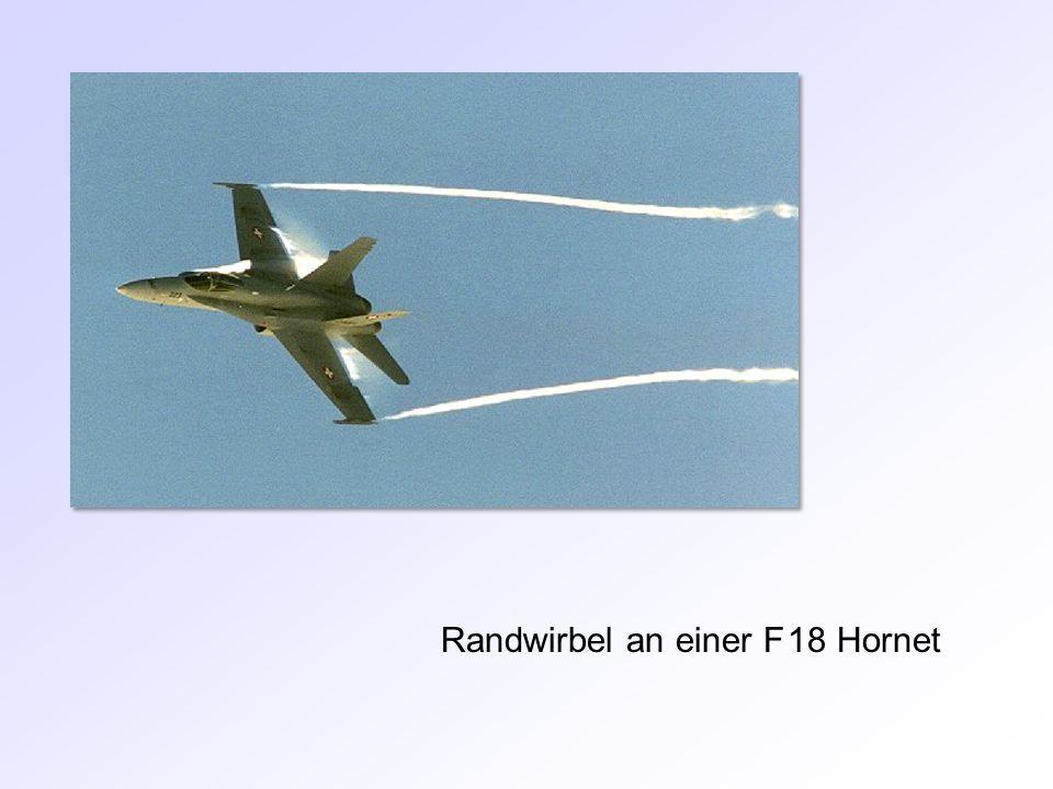 Randwirbel an einer F 18 Hornet