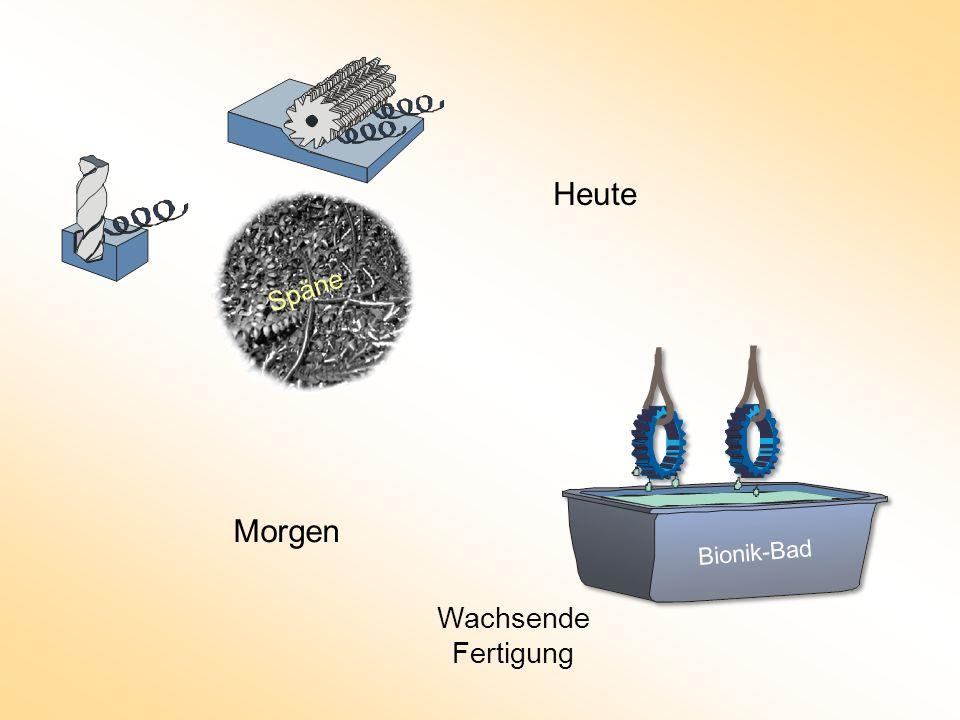 Heute Spanende Fertigung Wachsende Fertigung Bionik-Bad Späne Morgen