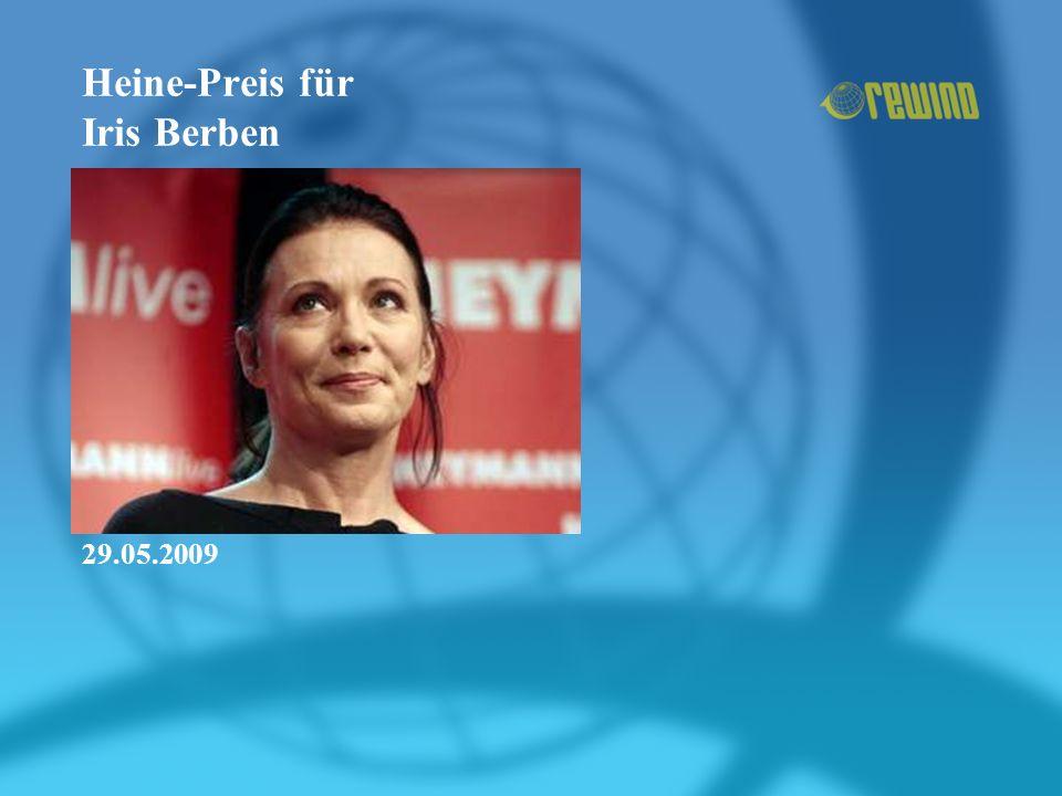 Heine-Preis für Iris Berben 29.05.2009