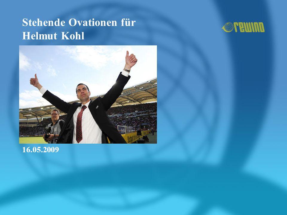 Stehende Ovationen für Helmut Kohl 16.05.2009