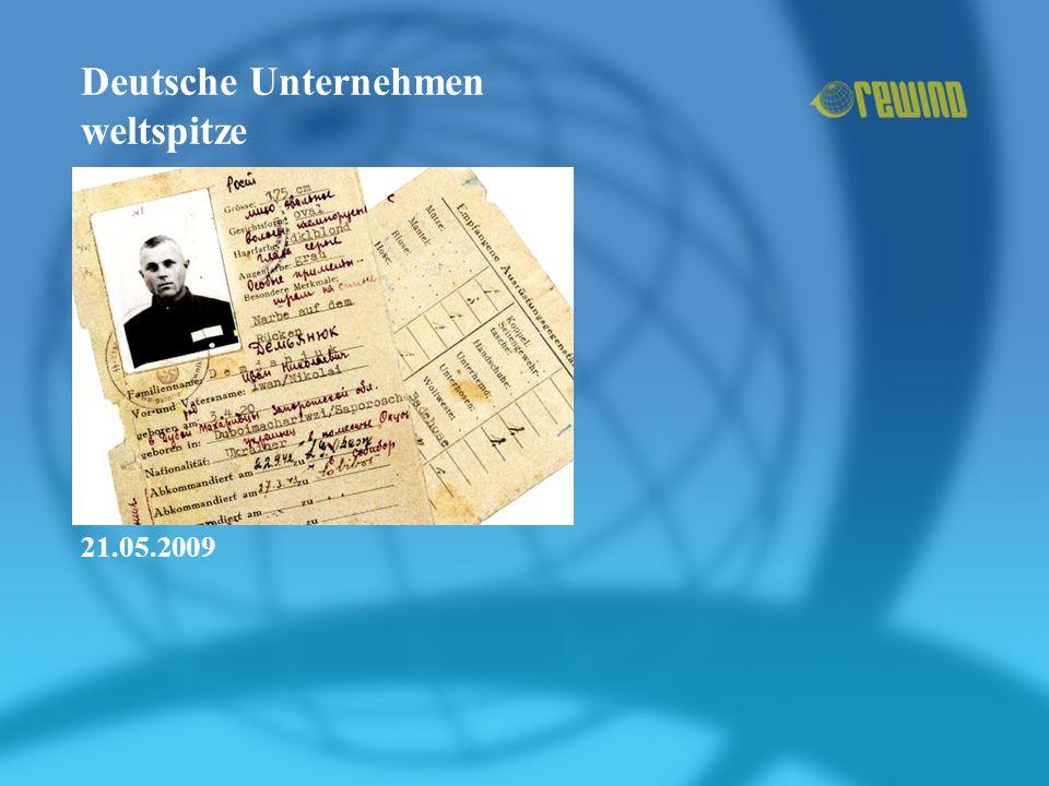 Deutsche Unternehmen weltspitze 21.05.2009