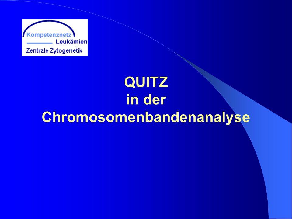 QUITZ in der Chromosomenbandenanalyse