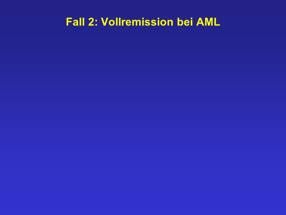 Fall 2: Vollremission bei AML