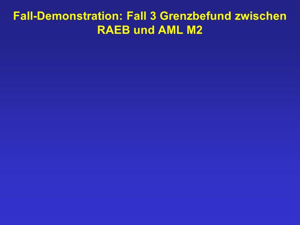 Fall-Demonstration: Fall 3 Grenzbefund zwischen RAEB und AML M2