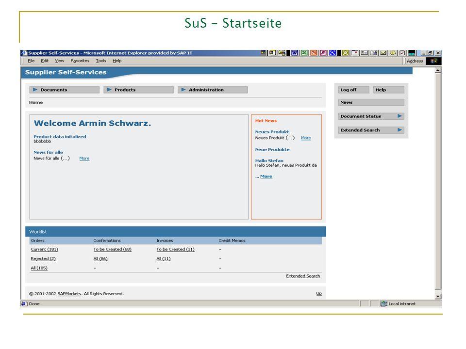 SuS - Startseite