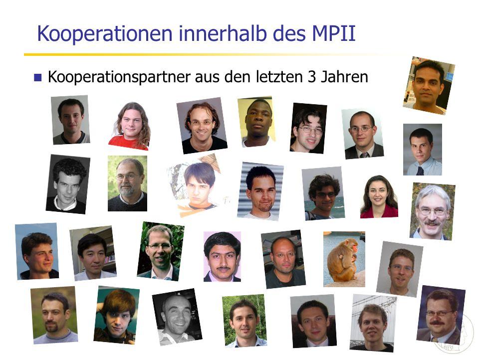 Kooperationspartner aus den letzten 3 Jahren Kooperationen innerhalb des MPII