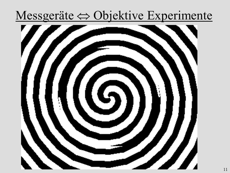 11 Messgeräte Objektive Experimente