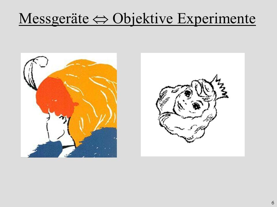 6 Messgeräte Objektive Experimente