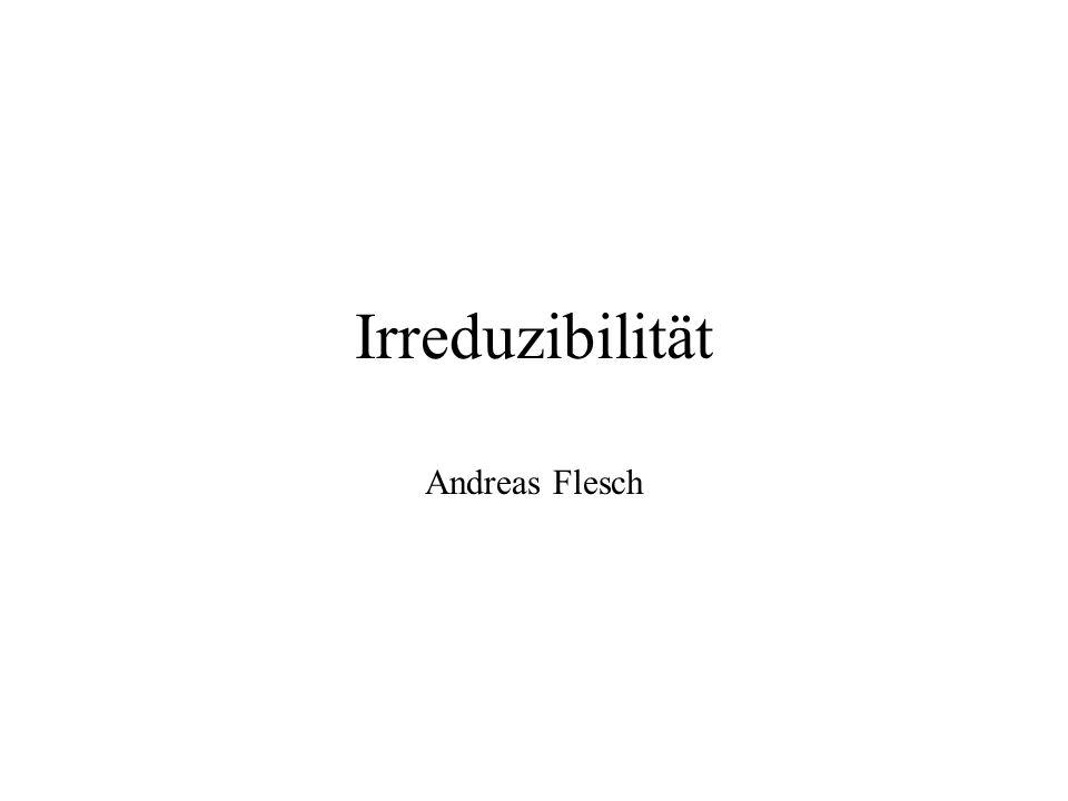 Irreduzibilität Andreas Flesch