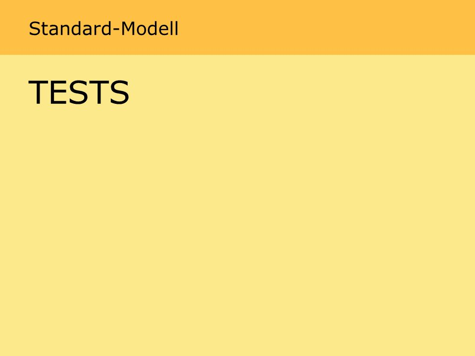Standard-Modell TESTS
