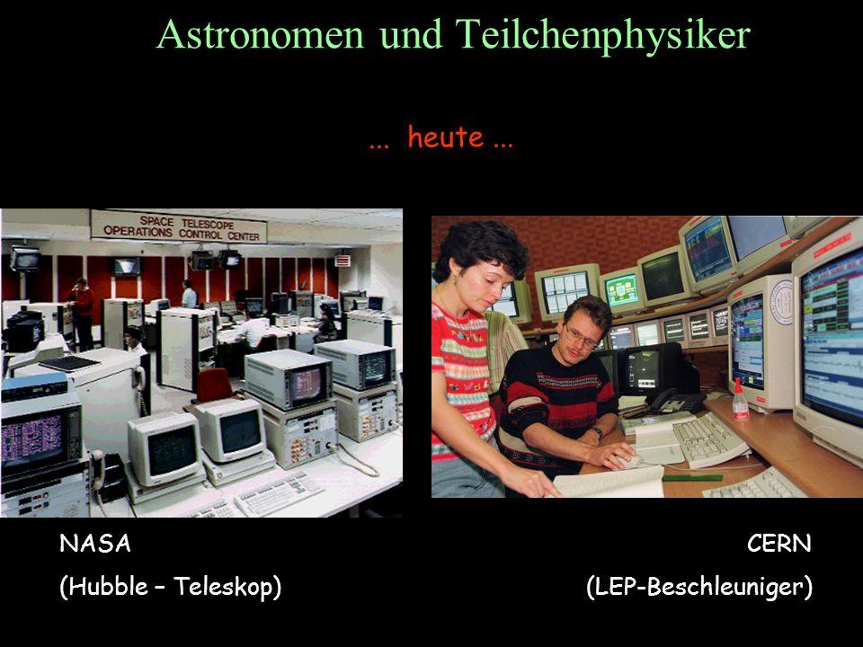 T.Hebbeker Astronomen und Teilchenphysiker... heute... NASA (Hubble – Teleskop) CERN (LEP-Beschleuniger)