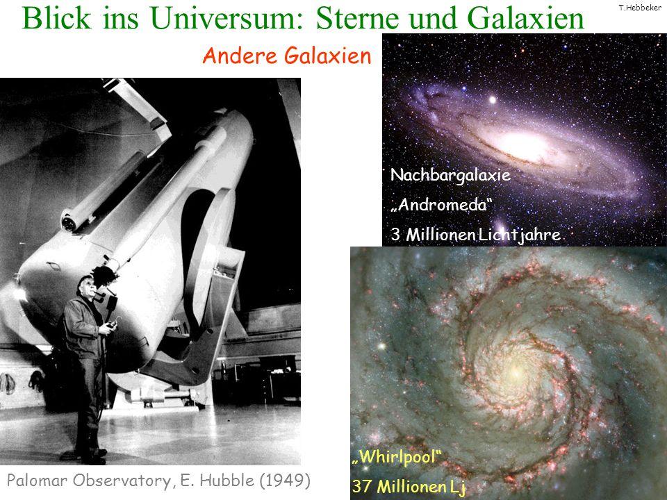 T.Hebbeker Blick ins Universum: Sterne und Galaxien Hubble-Teleskop bis zu einigen Milliarden Lichtjahren Blick in die Vergangenheit.