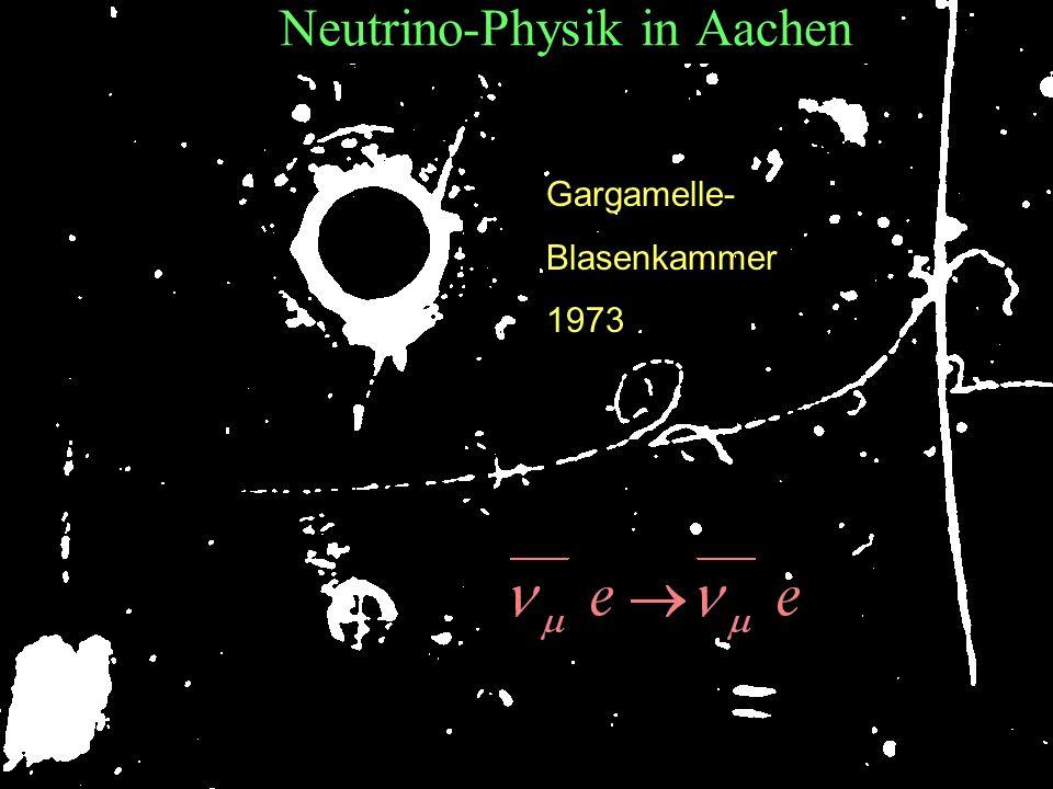 T.Hebbeker Neutrino-Physik in Aachen Gargamelle- Blasenkammer 1973