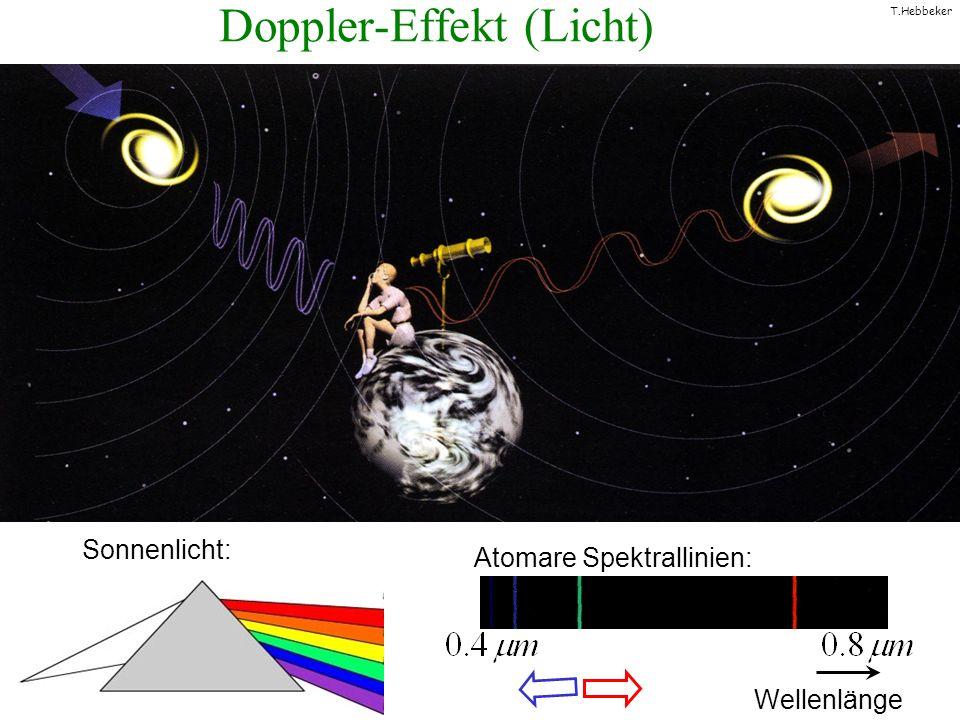 T.Hebbeker Universum expandiert ! E. Hubble Rotverschiebung der Spektrallinien