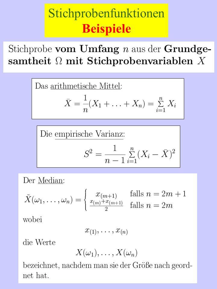 Erwartungstreue Schätzer Wenn der Parameter selbst geschätzt werden soll: Wenn ein allgemeines statistisches Problem vorliegt: Dabei bedeutet der Index, dass der Erwartungswert bzgl.
