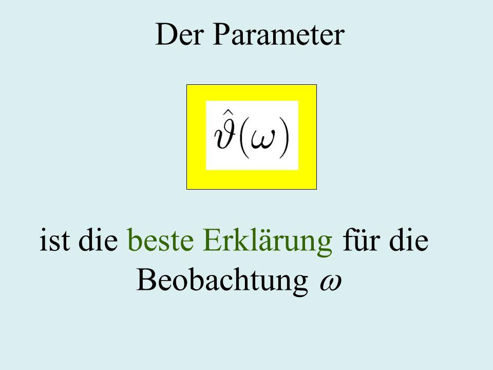 Der Parameter ist die beste Erklärung für die Beobachtung