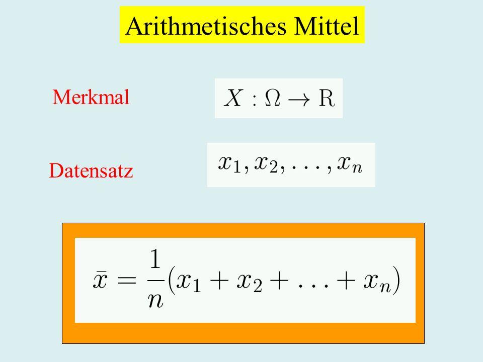 Arithmetisches Mittel Merkmal Datensatz