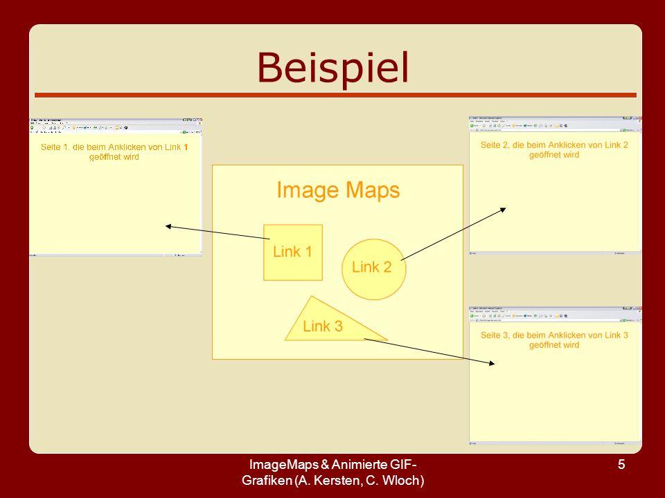 ImageMaps & Animierte GIF- Grafiken (A. Kersten, C. Wloch) 5 Beispiel