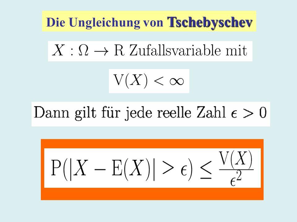 Tschebyschev Die Ungleichung von Tschebyschev
